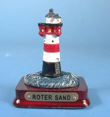 20220 Zinn Leuchtturm Roter Sand