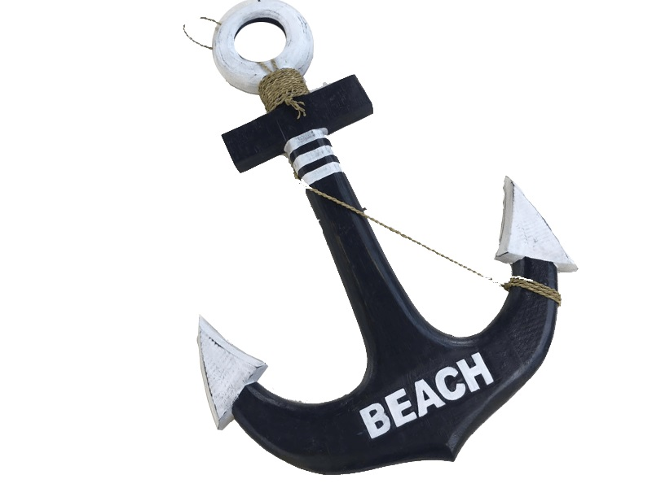 20527 Anker mit Tau 60x40cm - Beach