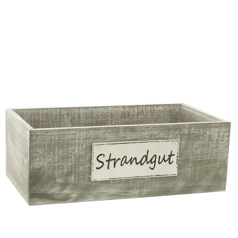 20772 Holzbox Strandgut,grau