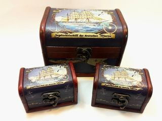 20840  Holztruhe Gorch Fock 3er Set