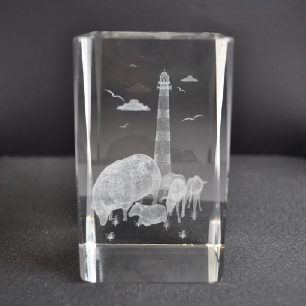 21200 Laser Glas Quader Leuchtturm
