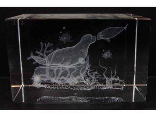 21219 Laser Glas Quader Seehund