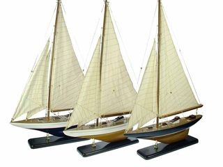 22039  Segelyacht 42cm 3 sort
