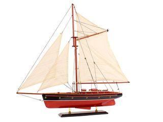 22044 Luxus Segelyacht blau/rot 42cm