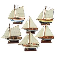 22308  Segelboot 6sort,20cm