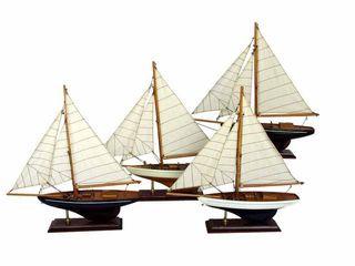 22309  Segelboot,33x35cm, 4 sort.
