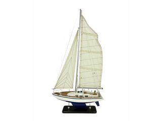 22338 Segelyacht 40x9x63cm blau/weiß