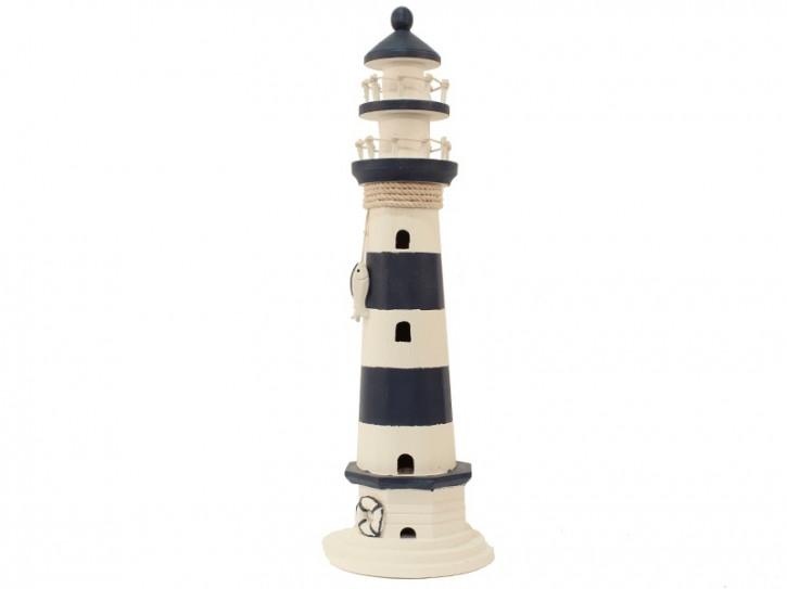 22540 Leuchtturm blau/weiß HOLZ 55cm
