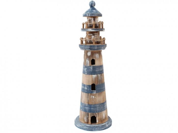 22545 Leuchtturm blau/weiß 46cm