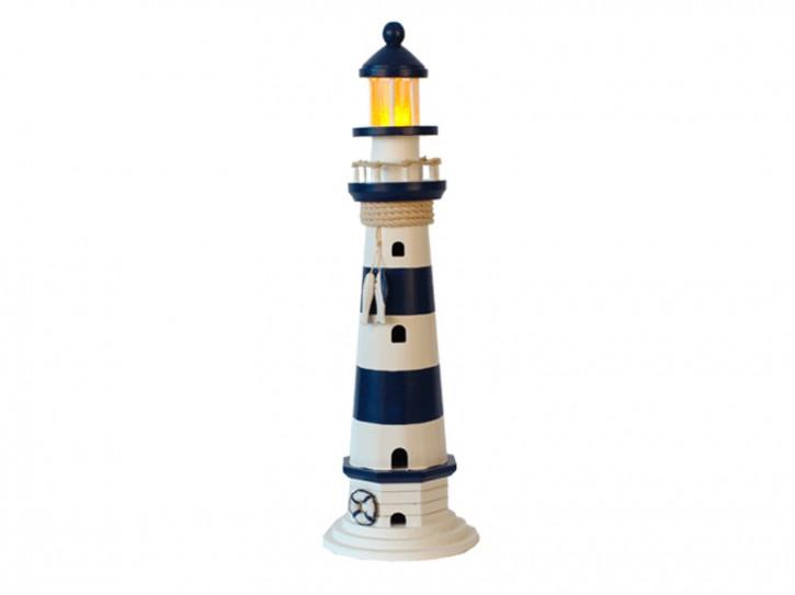 22550 Leuchtturm blau/weiß HOLZ 55cm