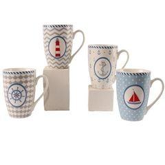 23088 Bone China Becher Maritim 4 s.