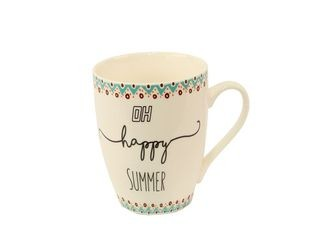 23093 Becher  Bone China - Happy