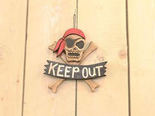 23407 Piratenschild Keep out 15cm