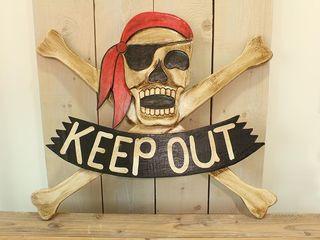 23408  Piratenschild Keep out 100cm