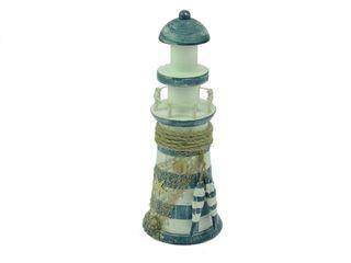 23465 Leuchtturm blau/weiß gestreift