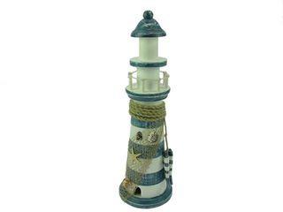 23466 Leuchtturm blau/weiß gestreift