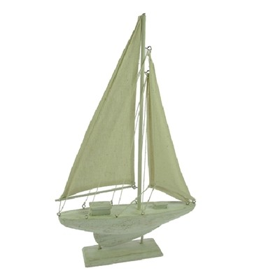 23703  Segelboot 19x13x3cm WHITE WASH