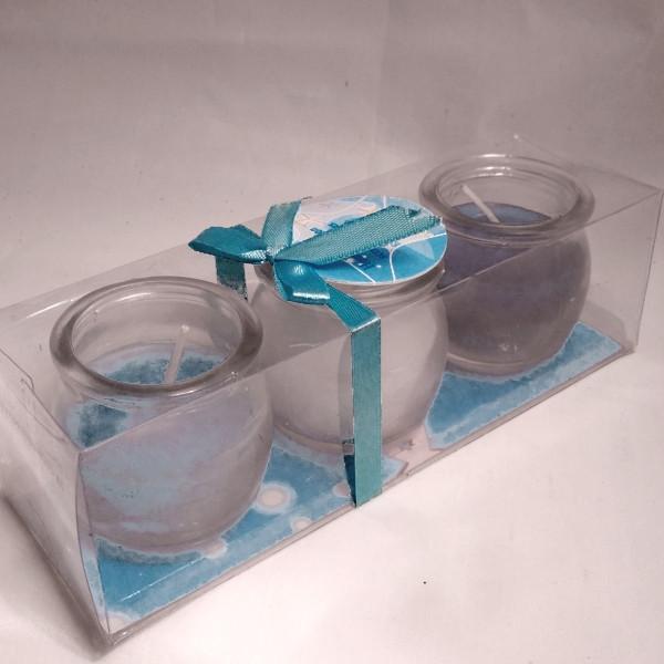 24061 Glas-Teelicht in Geschenkpack.