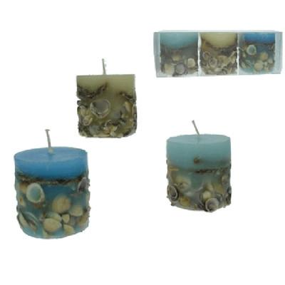 24148 Teelichtglas Rillen,6x,7Øx7cm