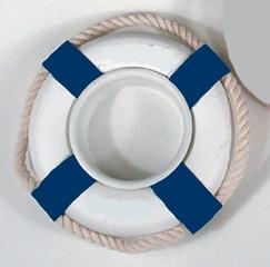 24246 Teelicht RettungsringBLAU/weiß