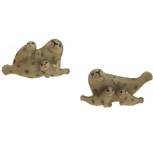 24538 Magnet Seehund 2 Kinder 7cm 2s