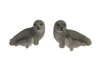 24539 Seehund+Junges 8cm 2s