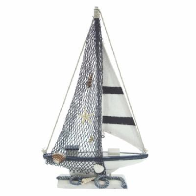 24675 Segelboot 18x30x3,8cm SEASIDE
