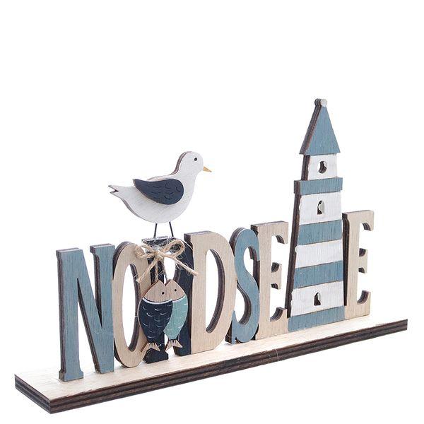 25009 Schriftzug Nordsee 26x4,5x15cm