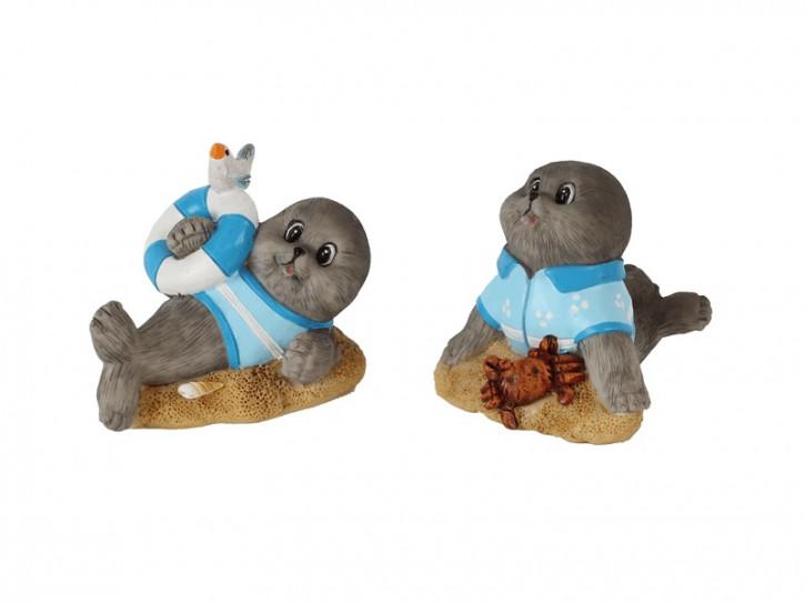 25151 Comic-Seehund auf Sandbank