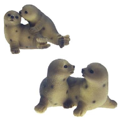 25240 Seehundpaar Poly, 8,5cm 2sort