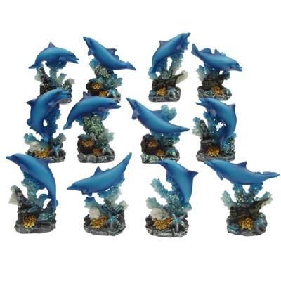 25432 Delfin mit Gold in Koralle 12s