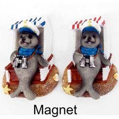 25518 Magnet Seehund auf Strandkorb