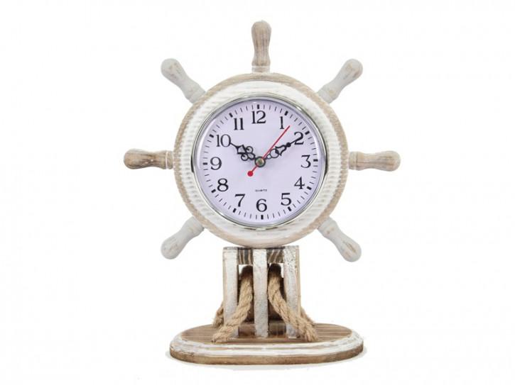 26031 Steurrad mit Uhr 22x9x27cm