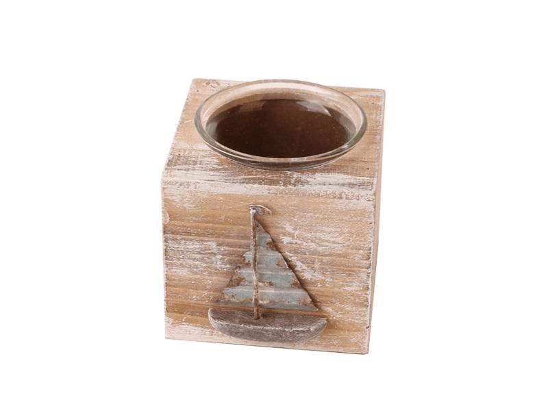 26069 Teelicht Segelboot 8,5x7,5x7,5