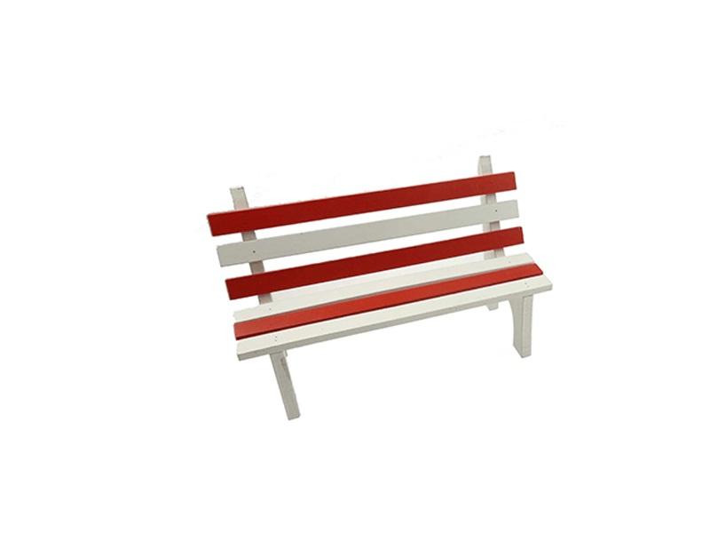 26495 Sitzbank Rot Weiss 16x9,5cm