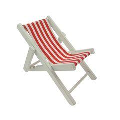 26502 Strandstuhl rot/weiß