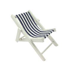 26503 Strandstuhl blau/weiß