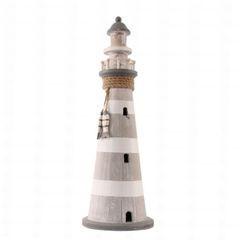 26604  Leuchtturm 53cm grau/weiß