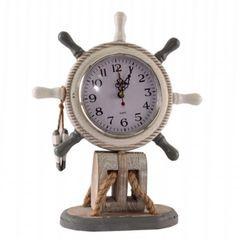26609  Steurrad mit Uhr  grau/weiß