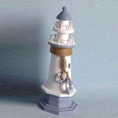 26658  Holz Leuchtturm klein 28,5x10x