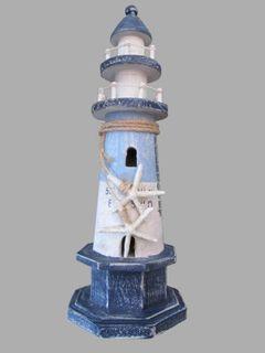 26664 Holz Leuchtturm 37cm