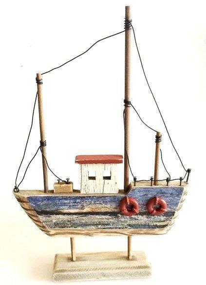 26672  Holz Fischerboot auf Basis 21x