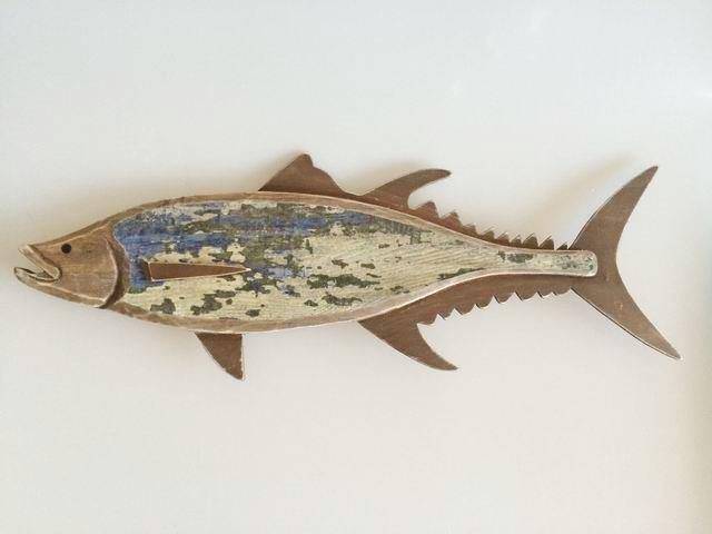 26676  Holzdeko Fisch 46x17x2cm