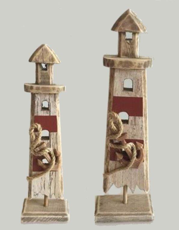 26684  Holz Leuchtturm auf Basis 26,5