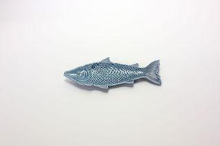 26889  Dekoteller Fisch, blau