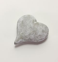 26904 Herz, grau-weiß
