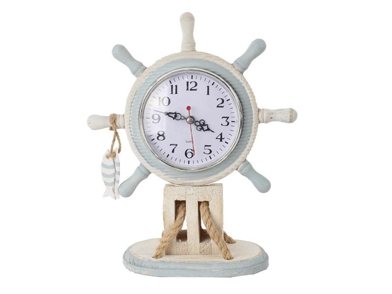 26930 Steurrad mit Uhr  23x9x28 cm