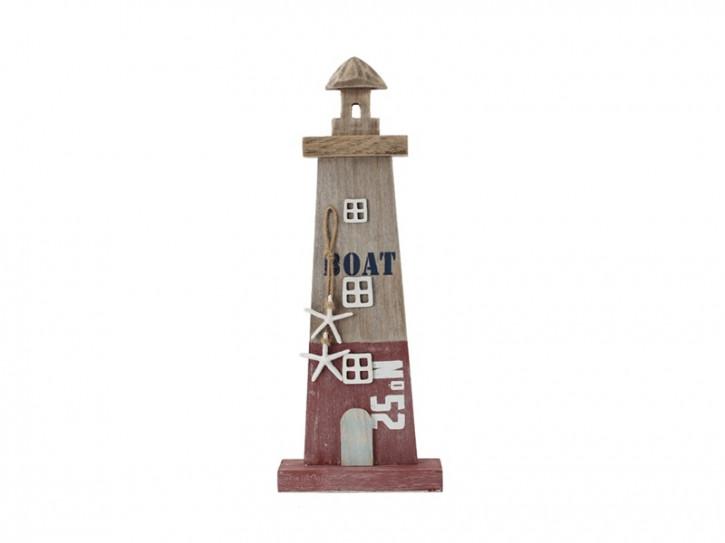 26964 Leuchtturm Beachline Rot 42cm