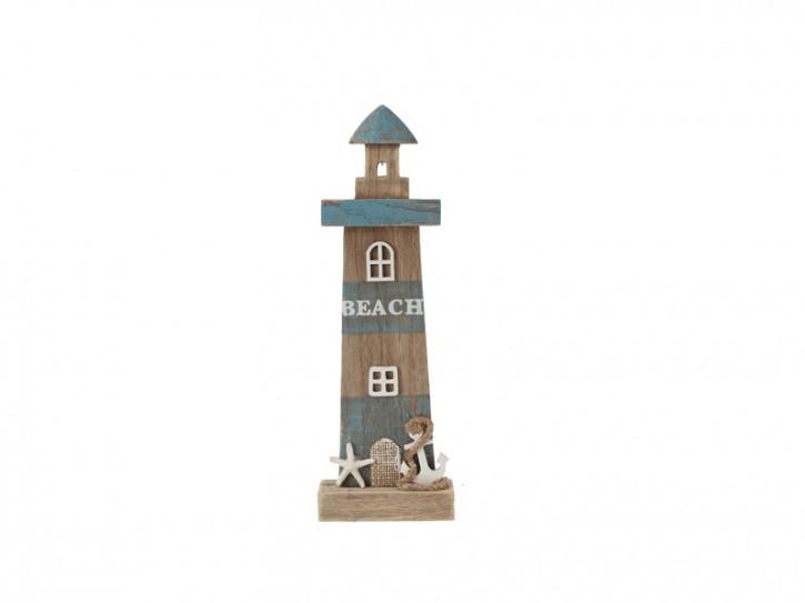 26965 Leuchtturm Beachline Blau 32cm