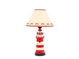 26999 Leuchtturm Lampe ROT/WEIß 40cm